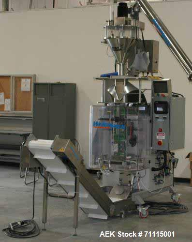 Used- Weighpack Vertek 1150 Vertical Form, Fill and Seal Machine with Star Auger 200. Ideal for powder & granular products. ...