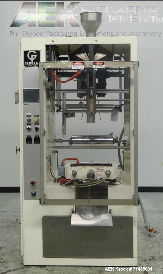 Used- General Packaging Machinery Model 80 AC Vertical Form Fill Seal Machine