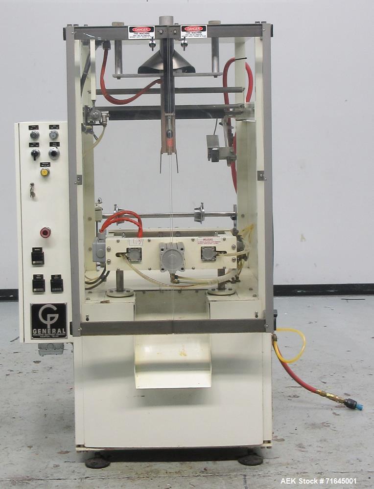 Used- General Packaging Entrada Model El LC Vertical Form Fill Seal Machine