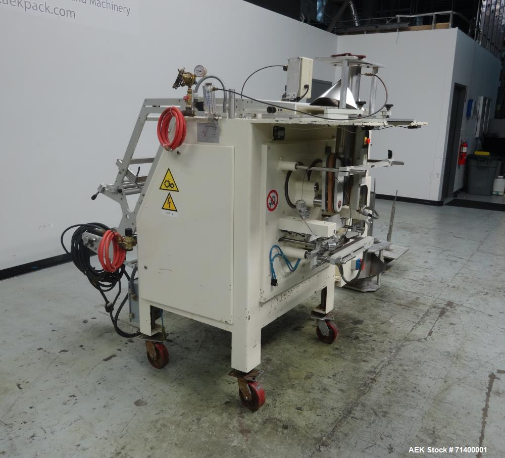 Used- Ilapak Vegatronic Model VT400S Gas Flush, Hot Stamp, Gusseting Attachment