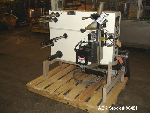 Used- Key Pak V-Series Flat Bottom Gussetting Vertical Form/Fill/Seal Machine, M