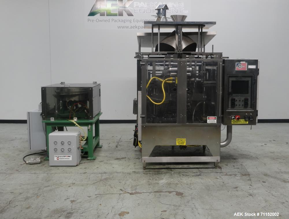 Used- Pacmac Model 9500 Vertical Form Fill and Seal Machine