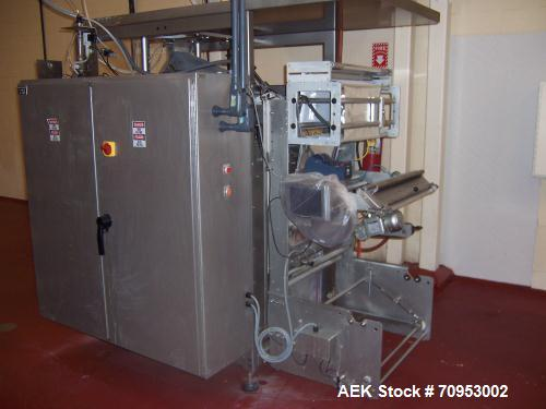 Used-Rovema Form Fill Seal Machine, Model VPI-260. Servo driven unit capable of speeds up to 120 bags per minute. Bag size r...
