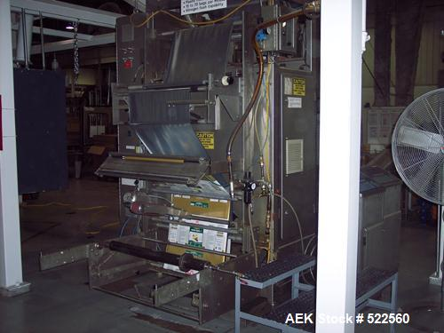 "USED: Rovema model VPK360 vertical form-fill-seal. Unit has approx 18"" wide seal jaws. Last running supported film. Has regi..."