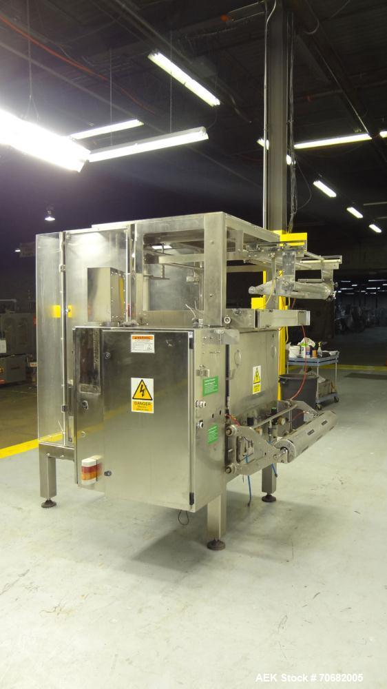 Used- Sandiacre Model TG400-LX Single Tube Vertical Form, Fill & Seal Machine