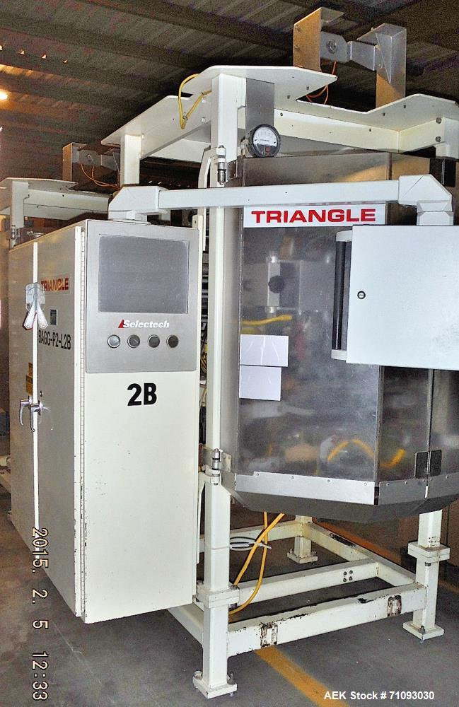 Used-Triangle Vertical Form Fill & Seal Machine, Model B22C/A918H1RN.  1/60/460V  Serial # 119985