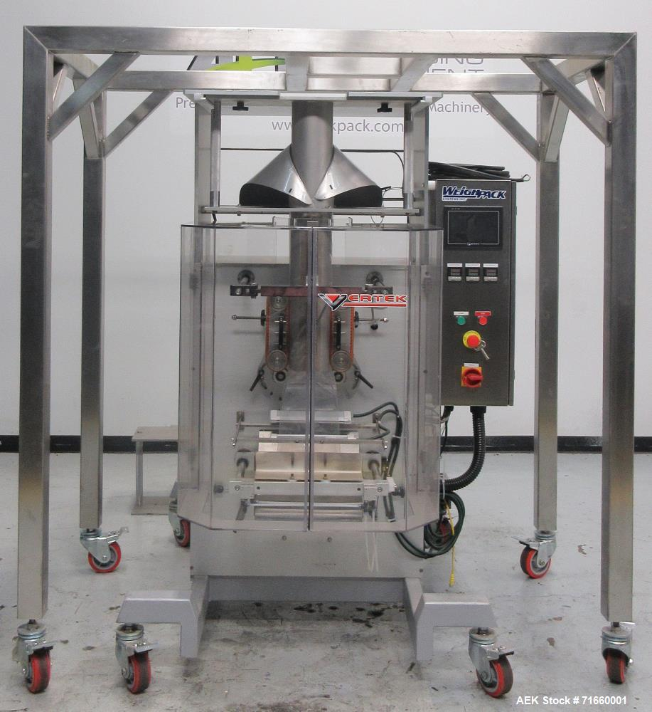 Used- WeighPack Systems Model Vertek 1150 LP Vertical Form and Fill Machine