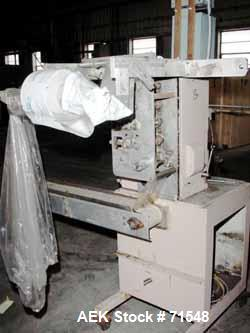"Used- Circle Continuous Motion Vertical Form/Fill/Seal, Model 4AB. Unit will handle up to a 4"" wide web width and 2 side mou..."