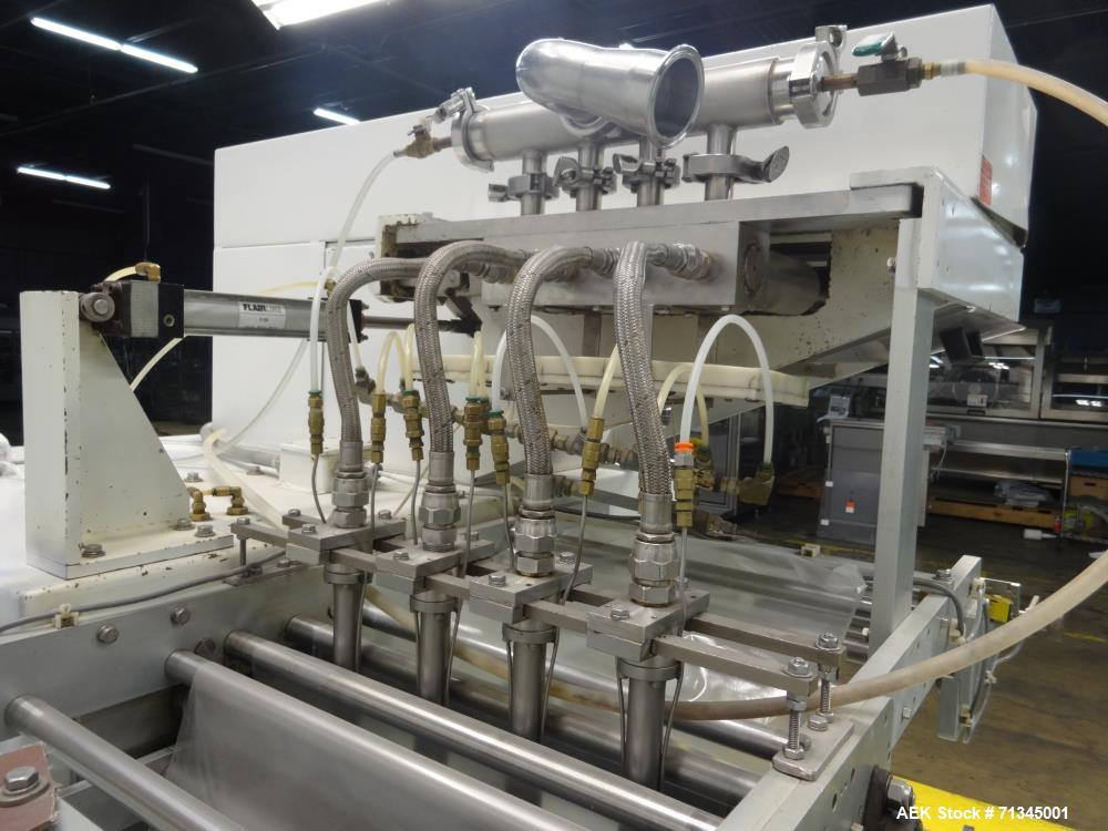 Used- Circle Model V18H4D-II Vertical Form, Fill, and Seal Pouch Machine