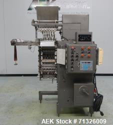 Used- Circle Model V12H60 Liquid/Paste Vertical Form, Fill, and Seal Machine