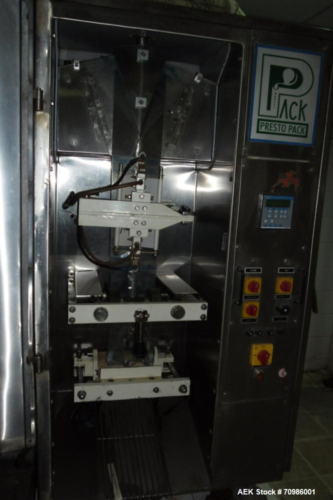 Used-Presto Pack (PP-2500S) Packaging Packager for liquids and paste