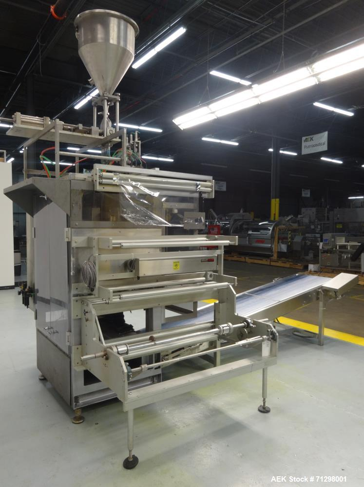 Used- Prodo-Pak Model PV-215-CSW-4 Vertical Form Fill and Seal Machine