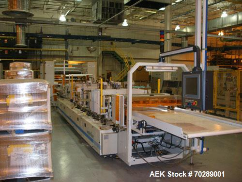 Used- Waterline ritebag 900-I-Z automatic high speed servo controlled pouch/bag making machine. Capable of speeds to 150 pou...