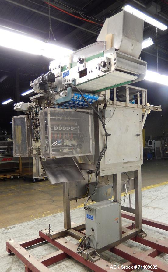 Used- Paxall Circle V16 Vertical Pouch Machine with Tablet Feeder.