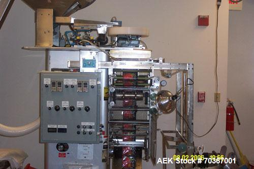Used- Wrap Aid Form & Fill Strip Packager. It is presently running 6 tablets into a double pouch. This machine was totally u...