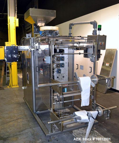 Used- Wrap Ade Model VSP 6R2 Vertical Strip Packaging Machine