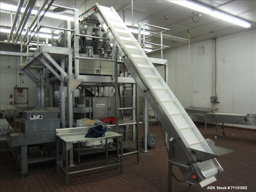 Used- Eagle Packaging Transpack II with Eagle CV-14 Dimpled Bucket Scale