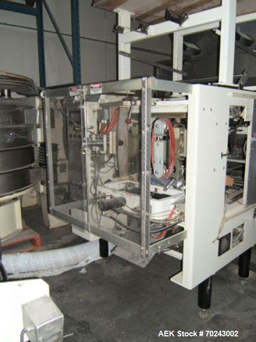 Used-General Vertical Form Fill & Seal, Model 48 WSCO.  Main machine 208V, 60 hz, 3 ph, 15 amps.  Controls 120V, 1 ph, 25 am...