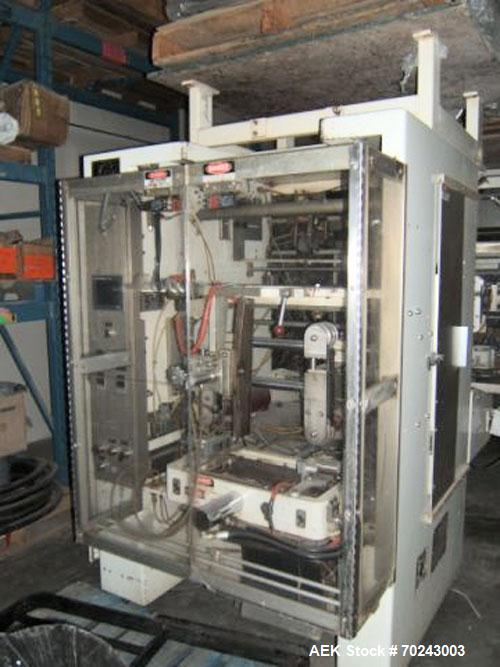 Used-General Vertical Form Fill & Seal, Model 76 SP/00.  Main machine 208V, 60 hz, 3 ph, 15 amps.  Controls 120V, 1 ph, 25 a...
