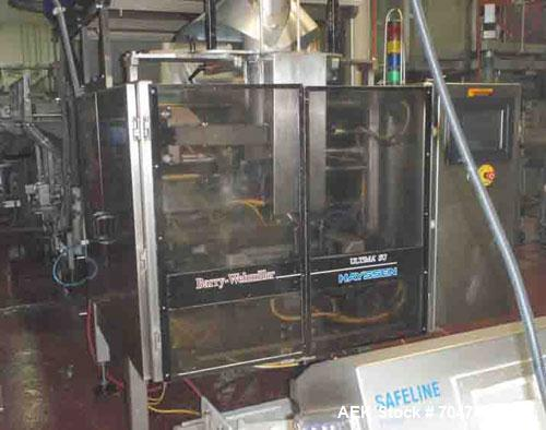 Used-Hayssen Ultima Form, Fill and Seal Machine, Model 16-22 HPR.  Stainless steel construction, electric eye registration, ...