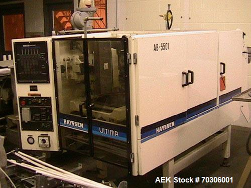Used-Used: Hayssen CMB12-16 vertical form fill & seal machine. Has Ishida Scale.