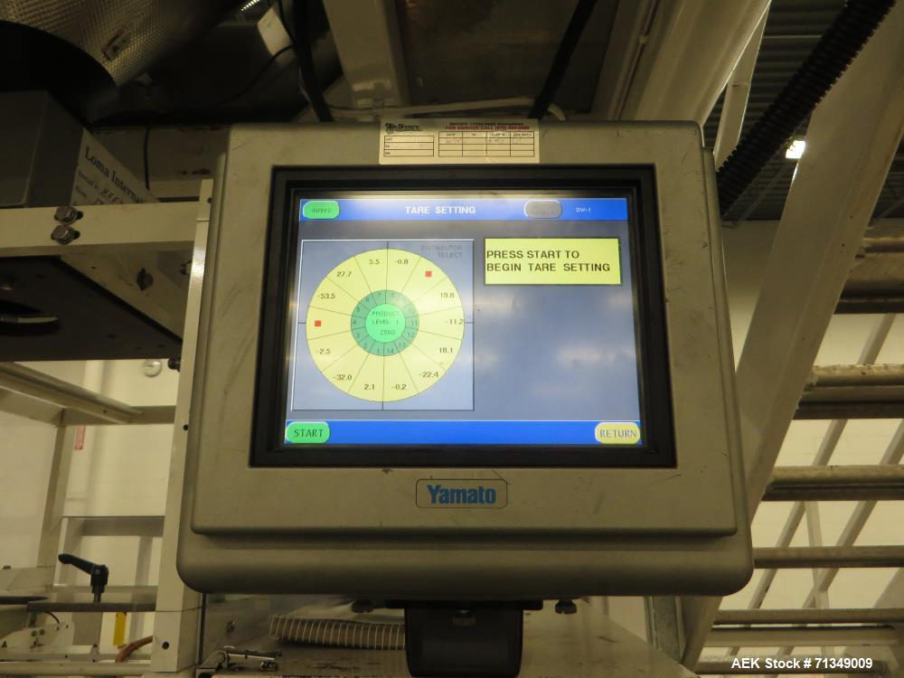 Used-Hayssen Ultima Ultra 13-19HR Vertical form fill and seal packaging system. Complete line includes with Ishida 14 head  ...