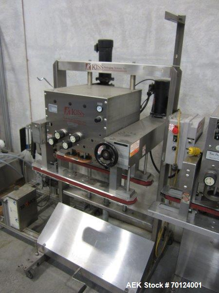 Used-Key Pak Model 300S Vertical Form Fill and Seal Machine capable of speeds up to 60 bags per minute. Has bag size range: ...