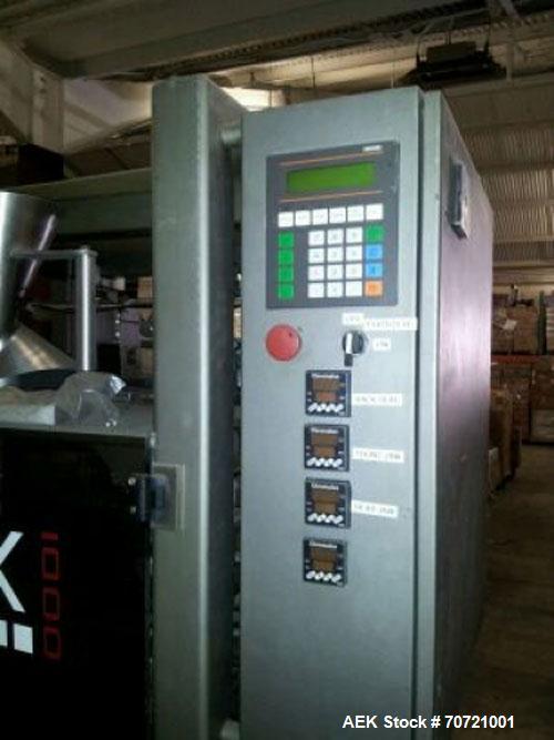 "Used-Matrix Vertical Form Fill Seal Machine, Model 1416R. 13"" wide x 15"" long maximum bag size. 2"" Wide x 3"" long minimum ba..."