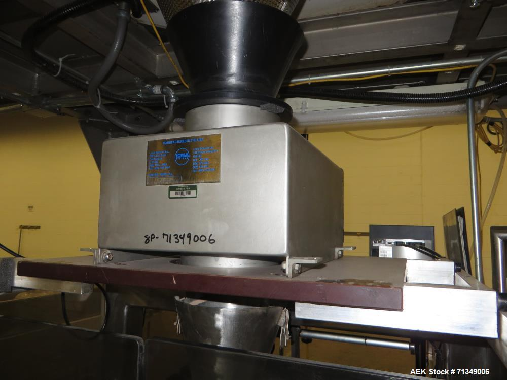 Used- Matrix Mercury Model  2840R Vertical form fill and seal packaging system. Complete line includes with Yamato Zigma Ser...