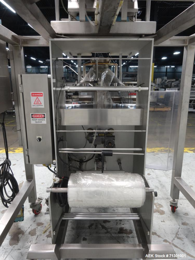 Used- WeighPack Systems Model Vertek 1150 Vertical Form Fill and Seal Machine