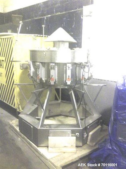 Used-Weighpack Systems XPDIUS XP1200 Vertical Form Fill and Seal Machine, complete with Combi model CS-14 big bucket 14 head...