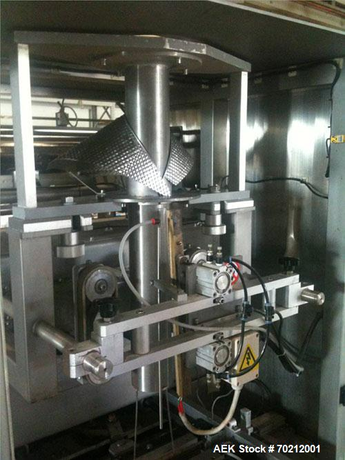 Used- Weighpack Systems XPDIUS XP1200 Vertical Form Fill and Seal Machine. All Stainless Steel construction. Intermittent mo...