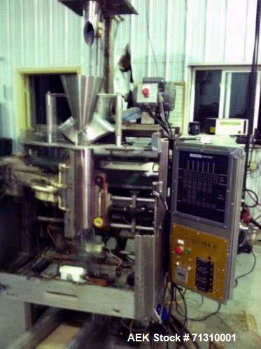 Used- Hayssen Ultima II Vertical Form Fill Seal with Spee-Dee Volumetric Cup Fil