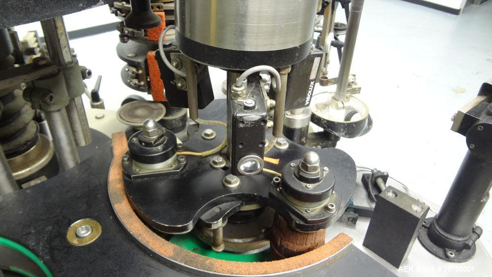 Used- Cavagnino & Gatti front back and neck glue labeler. Capable of speeds from 3000 to 8000 bottles per hour. Gluer and La...