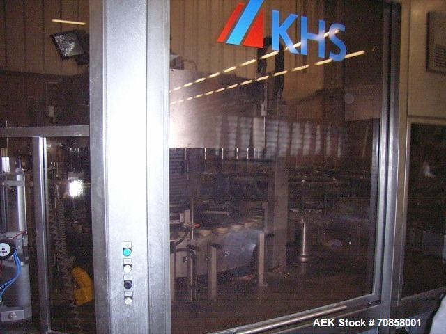 Used-KHS Type Innoket, JL 2060/120-36 LM PT Parallel Labeler for PET Bottles