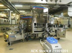 Used- KHS AG Front, Back and Neck Glue Labeling Machine. Type Innoket SE 2080/120-48LM GT. Cold glue configuration. Capacity...