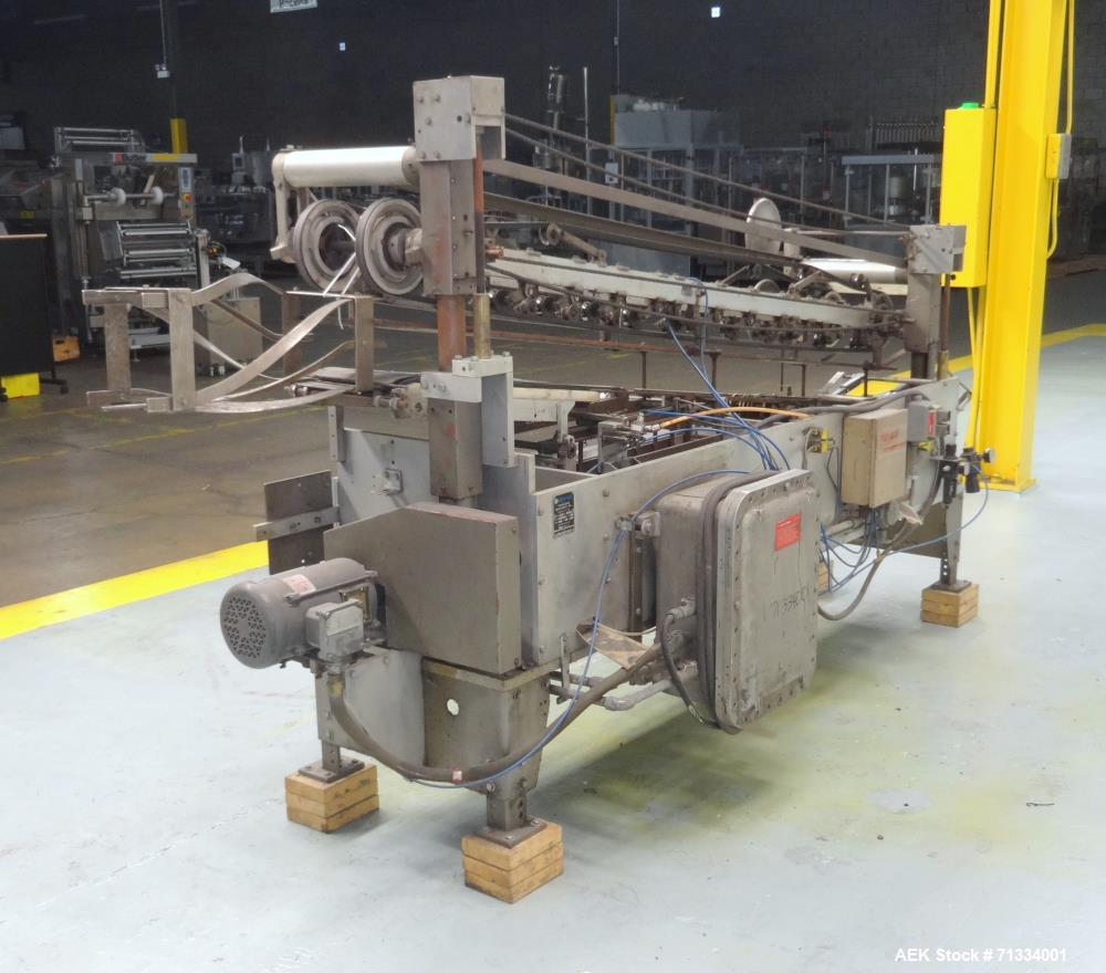 Used- New Way Packaging Model AP Horizontal Roll Through Labeler