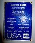 Used- Mateer-Burt (GEI) Model 704D Horizontal Roll-Through Labeler