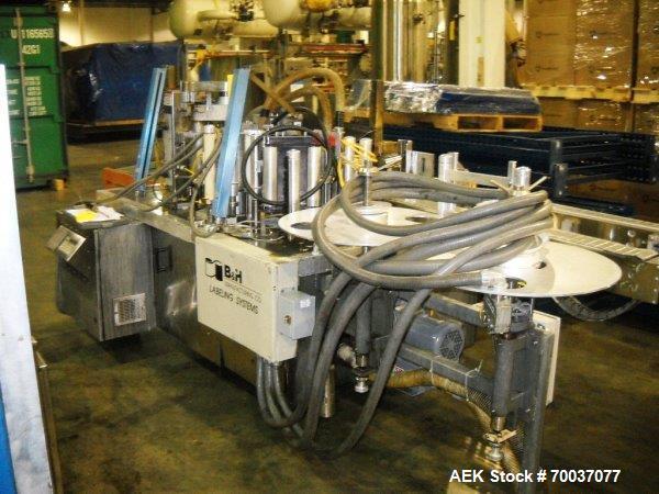 Used-B & H 2500U Roll Feed Wraparound Labeler