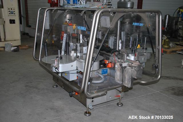 Used-Herma Automatic Labeler With Two Heads, Model 362-M-MC