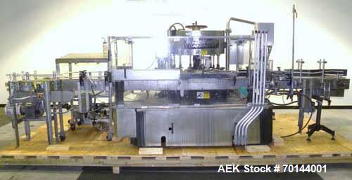 Used- Krones Model Canmatic 12 Station Hot Melt Vertical Labeler