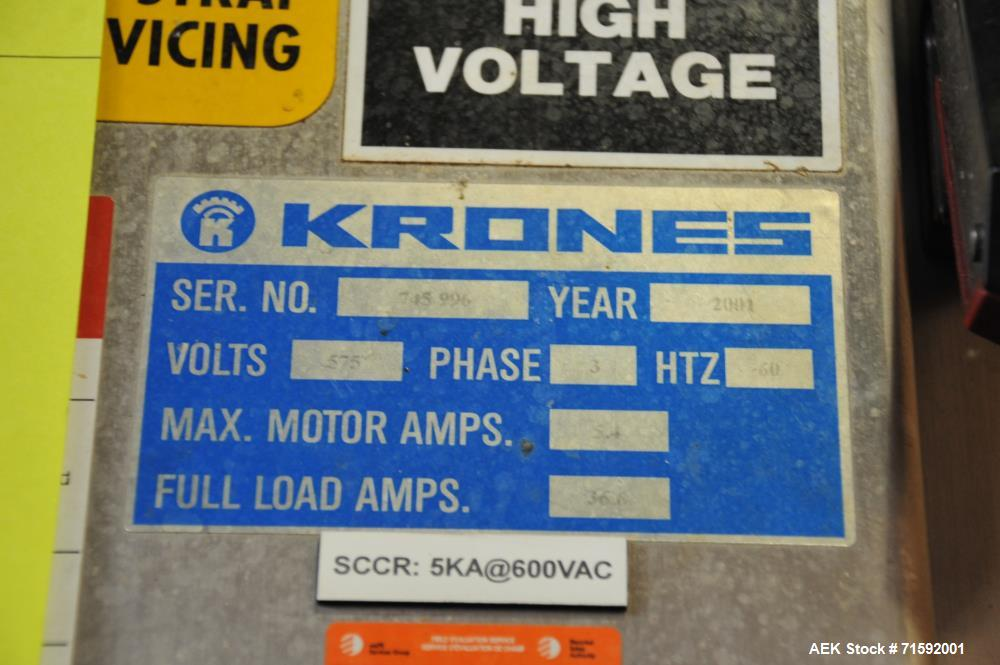 """Used- Krones """"Contiroll"""" Automatic Rotary 15-Station Wraparound Glue Labeler"""