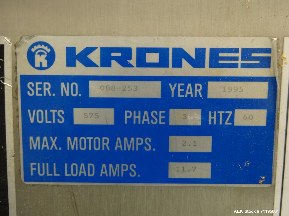 Used- Krones Model Rondella Wraparound Hot Glue Labeler
