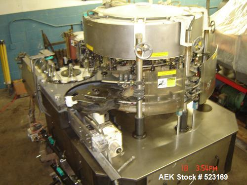 USED: Krones Solomatic 20 station rotary labeler set up for cold glue. Rated for 500 bottles per minute. 3/60/240V. Last use...
