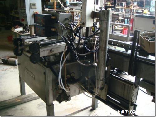 Used-Langguth Model E40 Hot Melt Wrap Labeler