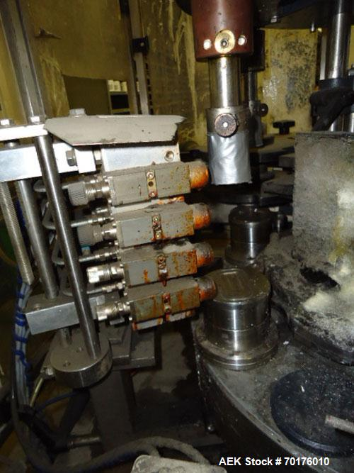 Used-Langguth Model F-62 Hot Glue Wrap Labeler