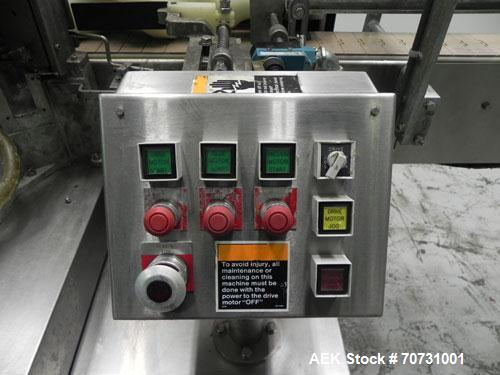 Used- New Jersey Machine Mustang II Automatic Glue Labeler capable of speeds up to 250 labels per minute. Has a label size r...