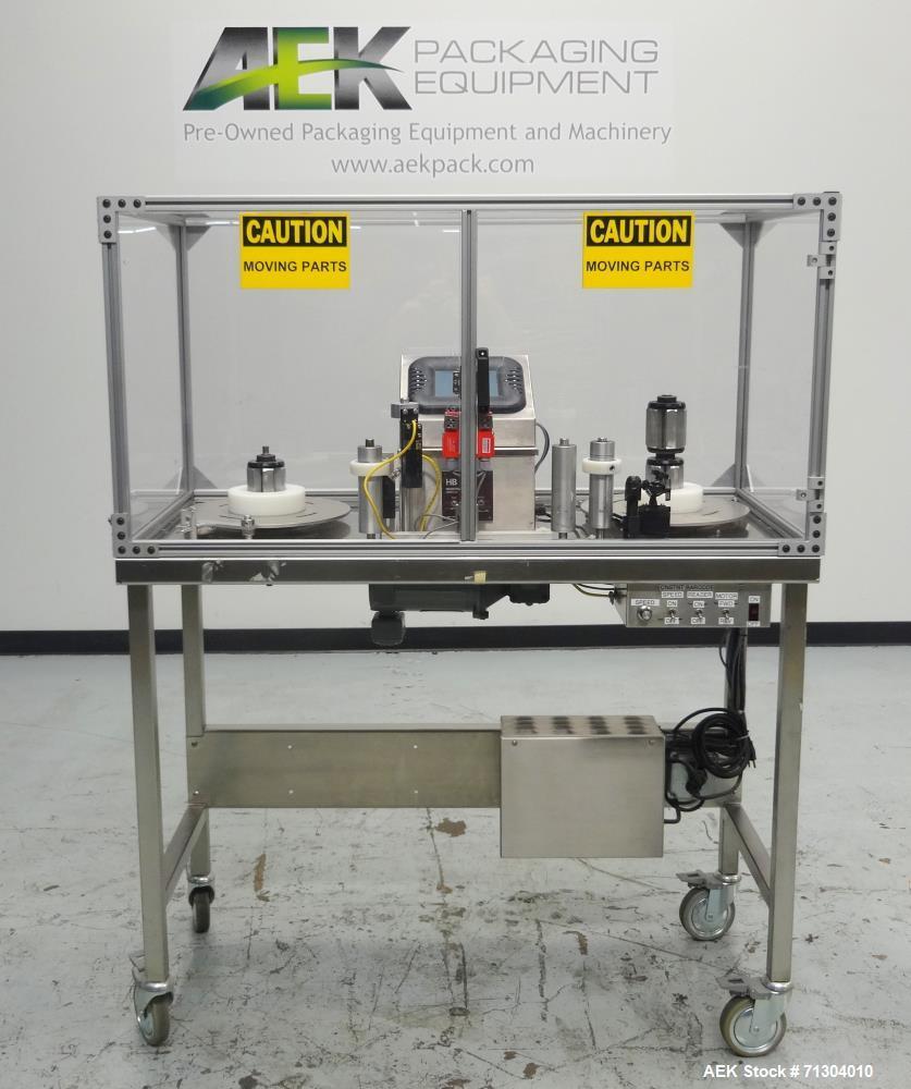 Used- HB Registration (Scanning Devices) Model 796T-ST3 Label Rewinder Processin