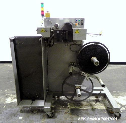 "Used- Label Aire ASDU 8""LH Auto Splice Dual Label Unwinder. Label Aire model ASDU 8"" RH auto splice dual unwinder with bonbo..."