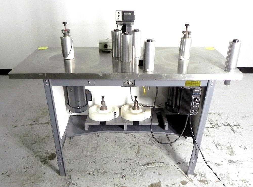 Used- Teco Model 200 Bi-Direction Label Counter and Rewinder. Is capable of speeds up to 600 feet per minute. Has a maximum ...